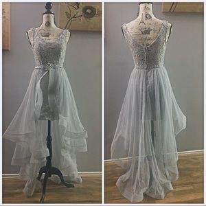 Dresses & Skirts - Lace and tulle dress with  waist embellishment